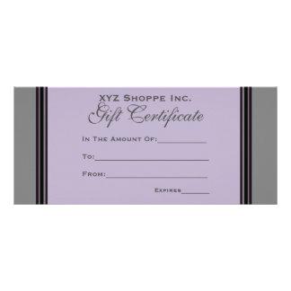 Gift Certificate grey black stripes