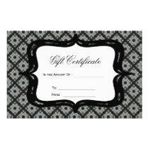 Gift Certificate Grey Pattern Flyer