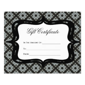 Gift Certificate Grey Pattern Flyer