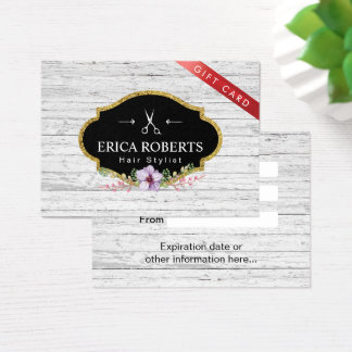 Gift Certificate - Hair Stylist Vintage Floral