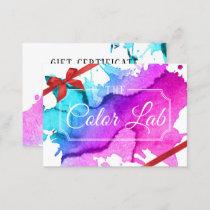 Gift Certificate | Modern Watercolor Hair Salon