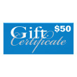 Gift Certificate Rack Card