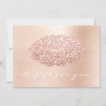 Gift Certificate Rose Gold Confetti Kiss Beauty
