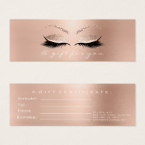 Gift Certificate Rose White Pink Lux Lashes Makeup
