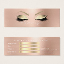 Gift Certificate Rose White PinkGold Lashes Makeup