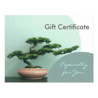 Gift Certificate Template-Flat-Bonsai Circles Post Card