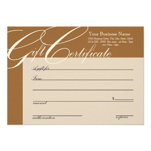 Gift certificate with color change 45x625 paper invitation card zazzle for Zazzle gift certificate