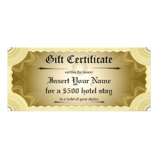 Gift Certificate Template Personalized Rack Card