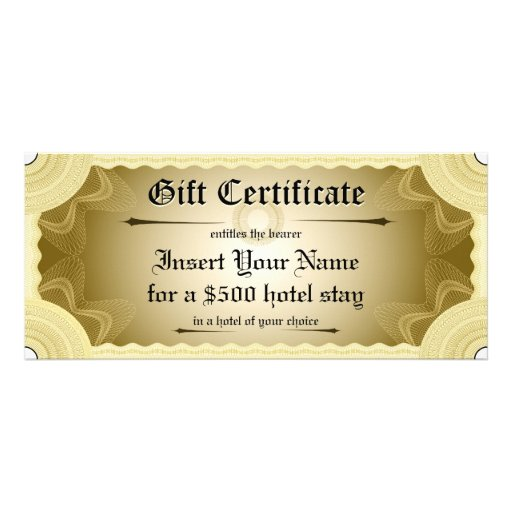 Gift certificate template personalized rack card zazzle for Zazzle gift certificate