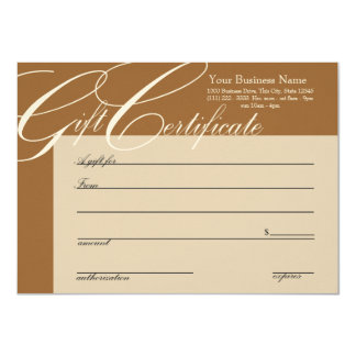 Gift Certificate with Color Change Personalized Invites