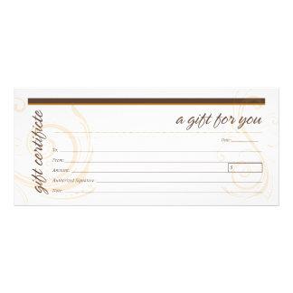 Gift Certificate with Modern Swirl Motif