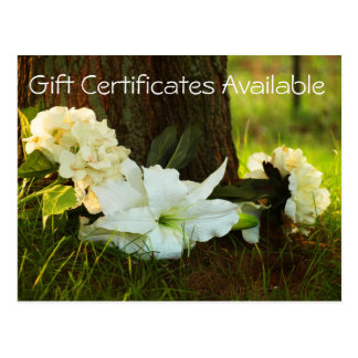 Gift Certificates available Postcard
