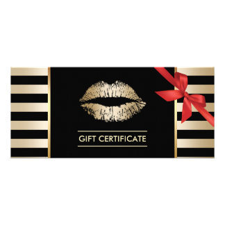 eyelash extension gift certificate template - certificate gifts on zazzle