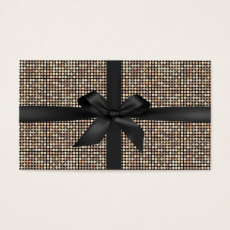 Gift Certificates Modern Gold Glitter Black Ribbon