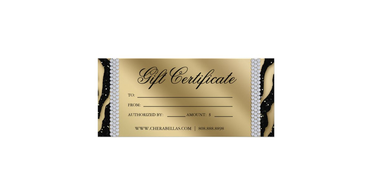 Gift certificates tanning salon jewelry black gold zazzle for Acapulco golden tans salon