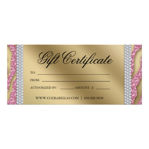 Gift Certificates Tanning Salon Jewelry Pink Gold