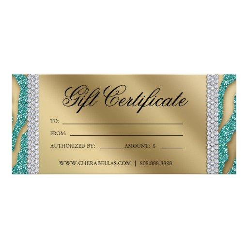 Gift certificates tanning salon jewelry teal gold zazzle for Acapulco golden tans salon