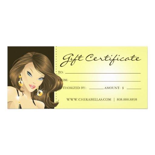 Gift Certificates Tanning Salon Pretty Woman Ylw   Zazzle