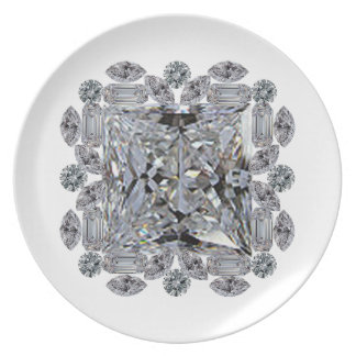Gift Diamond Brooch Plate