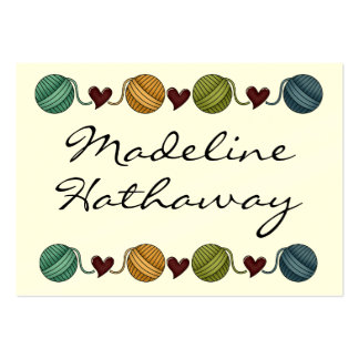 Gift Enclosure Card / Tag - Knitting - by SRF Large Business Cards (Pack Of 100)