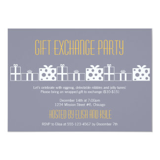 Gift exchange Yankee swap Christmas party Card