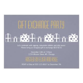 Gift exchange Yankee swap Christmas party Invitation