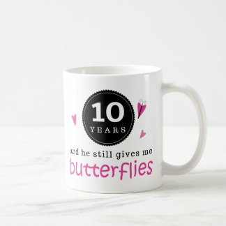 Gift For 10th Wedding Anniversary Butterfly Coffee Mug