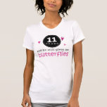 Gift For 11th Wedding Anniversary Butterfly T Shirt