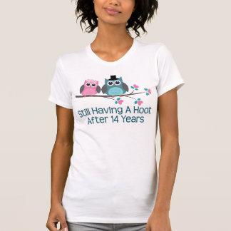 Gift For 14th Wedding Anniversary Hoot T-Shirt