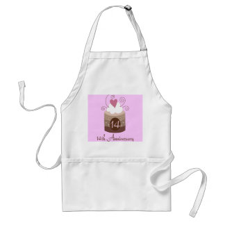 Gift For 14th Wedding Cute Cupcake Adult Apron