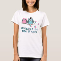 Gift For 17th Wedding Anniversary Hoot T-Shirt