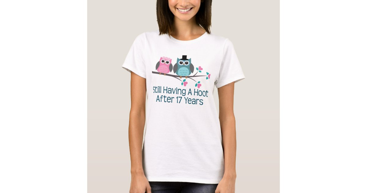 Gifts For 17th Wedding Anniversary: Gift For 17th Wedding Anniversary Hoot T-Shirt