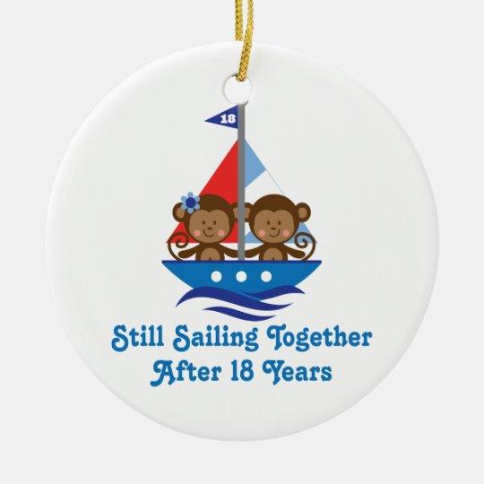 Gift For 18th Wedding Anniversary Monkeys Ceramic Ornament Zazzle