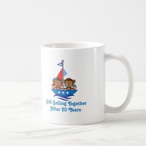 Gift For 20th Wedding Anniversary Monkeys Mug