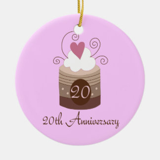Gift For 20th Wedding Cute Cupcake Christmas Tree Ornaments