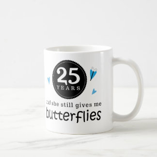 Gift For 25th Wedding Anniversary Butterfly Coffee Mug