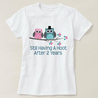 Gift For 2nd Wedding Anniversary Hoot T-Shirt