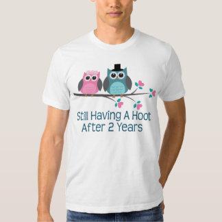 Gift For 2nd Wedding Anniversary Hoot T Shirt