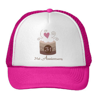 Wedding Gift 31 Years : Gift For 31st Wedding Cute Cupcake Trucker Hat