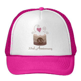 Gift For 33rd Wedding Cute Cupcake Trucker Hat