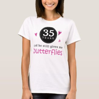 Gift For 35th Wedding Anniversary Butterfly T-Shirt