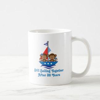 Gift For 38th Wedding Anniversary Monkeys Coffee Mug