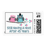 Gift For 45th Wedding Anniversary Hoot Postage