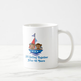 Gift For 45th Wedding Anniversary Monkeys Coffee Mug