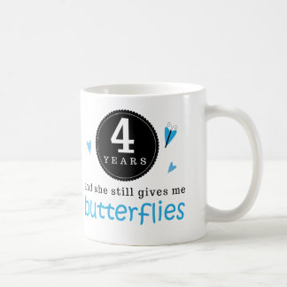 Gift For 4th Wedding Anniversary Butterfly Classic White Coffee Mug