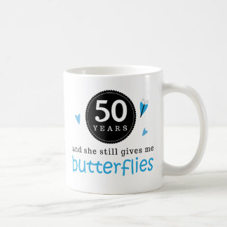 Gift For 50th Wedding Anniversary Butterfly Classic White Coffee Mug