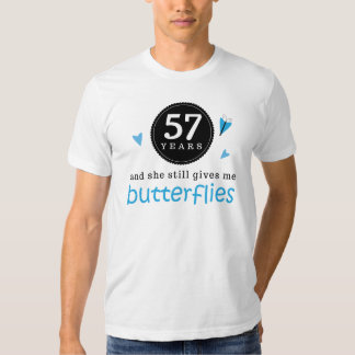 Gift For 57th Wedding Anniversary Butterfly T Shirt