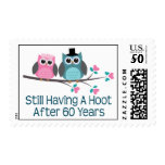 Gift For 60th Wedding Anniversary Hoot Postage