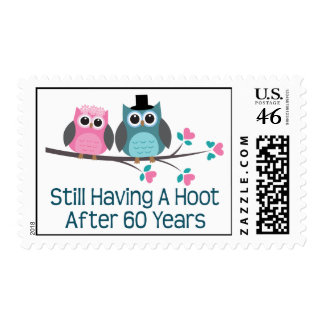 Gift For 60th Wedding Anniversary Hoot Stamp