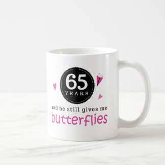 Gift For 65th Wedding Anniversary Butterfly Coffee Mugs